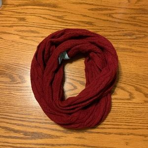 Red really soft infinity scarf
